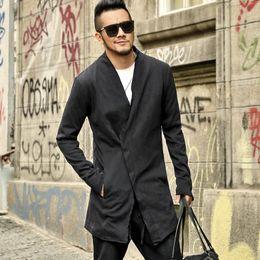 8715af71fe249 мужские кардиганы черные Скидка Men new British style black slim long  version suit coat Mens cardigan