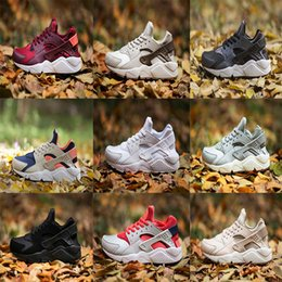Wholesale Womans Sports - 2018 New Air Huarache 1 I Women Running Shoes Green White Black Pink Sneakers Triple Huaraches 1 Trainers Womans huraches Sports Shoes