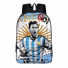 Kawaii Cartoon Children Mochilas lovely Shoulder Bags Regalo de cumpleaños Fútbol Soccer Star Messi School bag 16