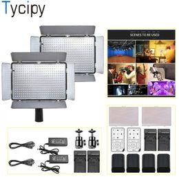 Tycipy 2 Sets LED Light Video Dimmable Camera Photo Studio Kit de iluminación para video disparar con batería de control remoto desde fabricantes