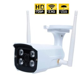 hd cámara poros de cable Rebajas Seguridad de la cámara IP Wireless Wifi Security for Outdoors Alta definición contra la resolución de detección de movimiento de agua 1280x720P