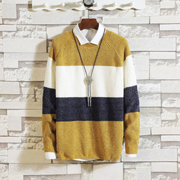 fd58430e12f season 2018 new round collar first render unlined upper garment sweater han  edition cultivate morality men s sweaters discount japan men sweaters