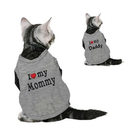 Wholesale Dog Christmas Shirts - Sweety Pet Cat Kitten Clothes Spring T-shirt Soft Dogs Clothes Pet Clothing Summer Cotton Shirt Casual Vests For Small Pets XS-XL
