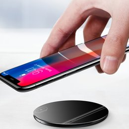 10 w qi carregador sem fio para iphone xr max 8 vidro rápido sem fio de carregamento pad para samsung galaxy s9 s8 mais s7 nota 8 de varejo linkr cheap wireless charger for galaxy note de Fornecedores de carregador sem fio para nota galaxy