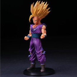 Wholesale kid gohan - 25cm Anime Dragon Ball Z Super Saiyan Son Gohan Action Figures Master Stars Piece Dragonball Figurine Collectible Model Toy