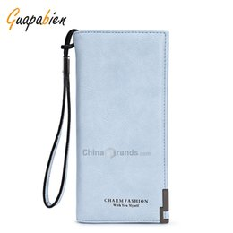 Wholesale Patchwork Wristlet - Guapabien Foldable Long Wallet Women Wristlet Card Holder Cloudy
