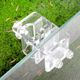 glasses aquariums Promo Codes - fish tank filter Aquarium Fish Tank Landscape Filter Accessory Lily Glass Pipe Holder Fix Bracket Hook Inflow Outflow Water Hose Fix Holder