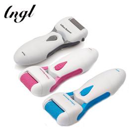 Wholesale foot leg massager - 1 PCS Waterproof Pedicure Tools Pumice Stone Roller Head Electric Leg File Foot Care Exfoliating Instruments Scholls