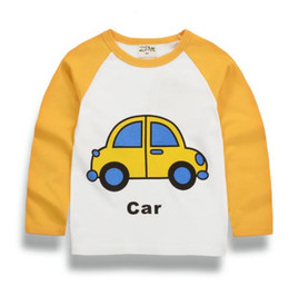 Wholesale T Shirt Cars Baby - Kids Boys Clothes Children Boys T shirt Baby Cotton T-shirts Long Sleeve Car Tees Clothing Tops T-shirt For Children