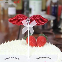 10pcs cristal perle aile joyeux anniversaire gâteau décorations décoration enfants anniversaire décoration pick pock drapeaux outil partie fournitures ? partir de fabricateur