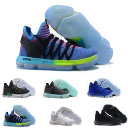 get cheap cf654 1c75d 2018 Zoom KD 10 Anniversary PE BHM Rouge Oreo triple noir Chaussures de basketball  pour homme KD 10 Elite Faible Kevin Durant Sportives Baskets