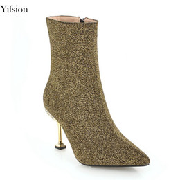 New Stylish High Heel Shoes Coupons Yifsion New Stylish Women Winter Boots Thin High Heel Find Similar