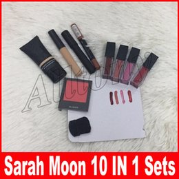 Wholesale Concealer Lipstick - New Brand SARAH MOON makeup high quality persistent cosmetic sets 10 in 1 makeup big box blush concealer lipstick lip pen brush
