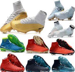 75e4e75424a140 2019 billige kinderstiefel Günstige 100% Original Qualität Mercurial  Superfly FG CR7 Kinder Fußball Schuhe Frauen