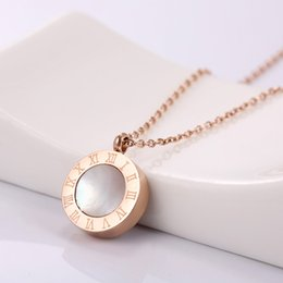 Wholesale Wholesale Abalone Pendants - Dropshipping, Beautiful Women Black White Pearl Oyster Pendant Necklaces High Quality Rose Gold Shell Necklace with Chain Fashion Jewelry