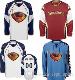 Wholesale Atlanta Homes - Customized Atlanta Thrashers jersey Discount Home Away Alternate Ice Hockey Jerseys Embroidery Logo Sew on Any Name & No. Size 2XS-6XL