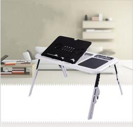 piegatura della staffa Sconti Staffa multifunzione per computer portatile da tavolo con ventola USB Dissipazione di calore Minimalismo regolabile Mobili Fold Tray Desk Alta durezza 27wy jj