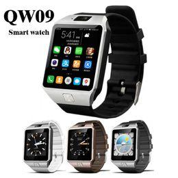 2019 telefoni 3g guardare QW09 Smart Watch Android 3g Wifi Bluetooth 4.0 MTK6572 Dual Core 512 MB di RAM 4 GB ROM Pedometro 3G Smartwatch Phone di alta qualità VS DZ09 sconti telefoni 3g guardare