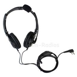 Wholesale Headset Sponges - 2 Pin VOX PTT MIC Sponge Earpiece Folding Headset for ICOM Radio IC-F3 IC-F4 IC-F24 IC-F11 IC-F21 IC-F21S IC-F22 IC-F22S