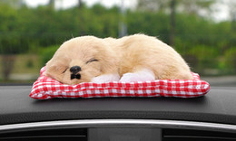Wholesale toy sleeping dogs - Car Ornament Lovely Plush Dog Automotive Interior Decoration Sleeping Puppy Toy Ornaments Cute Automobile Dashboard Accessories