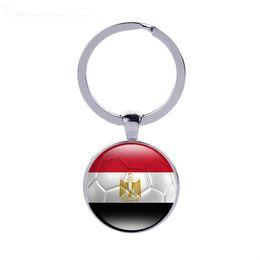 Wholesale Ball Boys Football - Peru Flag Football Keyrings Countries Flag Key Chains Egypt Morocco Car Key Accessories Soccer Fans Gifts Wholesales