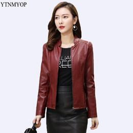 033b08fbf66 YTNMYOP New Slim Office Lady Clothing Outwear Women Leather Jacket Plus Size  5XL Leather Coat Outerwear Zipper Jaqueta Feminina