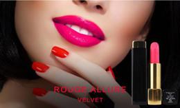 2019 las mejores marcas de maquillaje Nueva marca de maquillaje de alta calidad rouge atractivo terciopelo mate barra de labios 3.5 g más alta calidad Presione la barra de labios tubo de aluminio las mejores marcas de maquillaje baratos