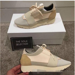 Wholesale Business Casual Sneakers Men - Free Shipping Kanye West Low Top Sneakers Men and Women Leather Business Casual Shoes Paris Men Designer Shoes