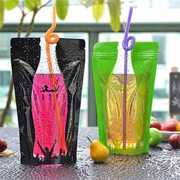 Sacchetto di plastica trasparente di consegna self-sealed del sacchetto del caffè del latte della bevanda del contenitore della bevanda della borsa del sacchetto di immagazzinaggio dell'alimento T3I0372 da