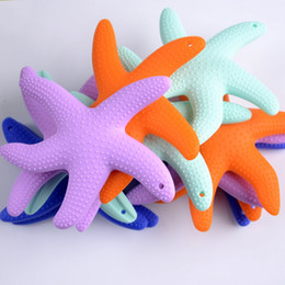 Wholesale Caring For Teeth - Baby Dental Care Soothers Supplies Starfish Shape Silicone Teether For Kid Tooth Training Toys Multi Color 6 66yf C R