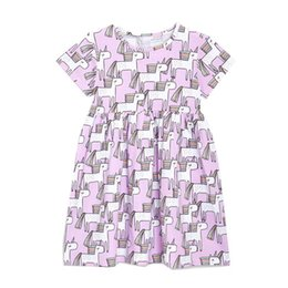 9b3aab019 China New Boutique Unicorn Girl Dresses Kids clothing Wholesale Short  sleeve Purple Cotton 2019 Summer 18M Find Similar. 5