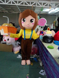 Wholesale Lollipops Costumes - Sweetheart girl Lollipops Walking Cartoon Mascot Costume Halloween Party Adult Size A+