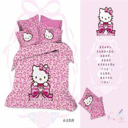Wholesale Cat Comforter Sets - 100% Cotton 3D Bedclothes 4pcs Bedding Sets King Or Queen Cat Princess Reactive Print