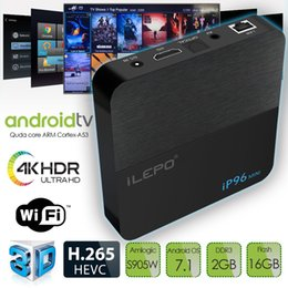 Mini h jogador on-line-Mais barato Amlogic s905w Caixa de TV Android 2 GB 16 GB TV Box 4 K Media Player IP96 mini Construído em 2.4G WiFi suporte 4 K H.265 Android 7.1 caixa de tv inteligente