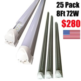 Wholesale Feet Warmers - 8ft led tube lights V-Shape 8 foot design shop LED lights fixture 2ft 3ft 4ft 5ft 6ft Cooler Door Freezer lighting fluorescent Lamps