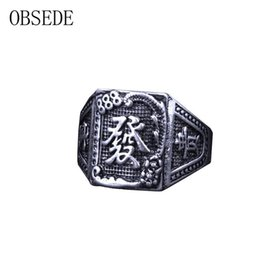 Wholesale Chinese Rings For Men - whole saleOBSEDE Charms Chinese Ring Punk Style Alloy Rings for Men Personality Men Ring Size 8-11 High Quality Jewelry Wholesale