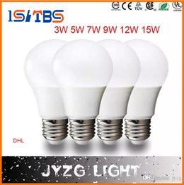 Wholesale Led Bulb Bright White - Super bright E27 LED lamp 3W 5W 7W 9W 12W 15W 360 angle SMD LED Bulb Led Ball steep light