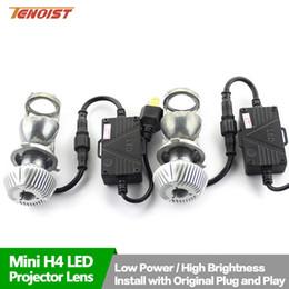 Faros kit 24v 12v online-Linterna brillante estupenda del kit de la conversión de los bulbos H4 LED con la mini lente del proyector para el coche SUV BUS 12V / 24V