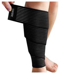 AOLIKES Sport Fascia avvolgente fascia per la protezione della pelle del ginocchio del polpaccio avvolgente 1pz da