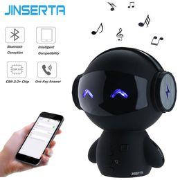 Wholesale Cartoon Mini Mp3 Player - JINSERTA Bluetooth Wireless Cartoon Robot Portable Mini Bluetooth Speakers Stereo Music Loudspeakers Power Bank Player Receive