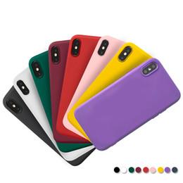 handy-slip-fall Rabatt Handy Fällen Mode Einfarbig TPU Mobile Schützen Abdeckung Anti Slip Handy Shell für XS MAX