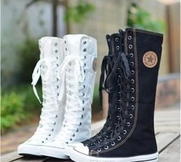 Girls Knee High Canvas Shoes Online