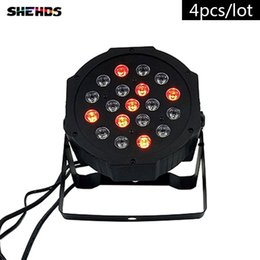 Discount american dj par led - 4PCS LOT American DJ LED Flat Par 19x3W Lighting No Noise 19x3W RGB 7Channels for DJ Disco KTV Party,SHEHDS Stage Lighting