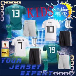 Wholesale Grey Child - GERMANY KIDS away 2018 Soccer Jerseys HUMMELS 17 18 CHILD BOY OZIL HOME WHITE KROOS FOOTBALL World Cup SHIRT WERNER GOTZE child JERSEYS
