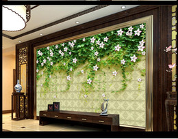 Wholesale sound absorbing materials - living 3d wallpaper Rose wall PSD template flower vine picture material nature scenery wall paper