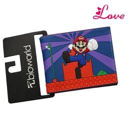 Wholesale Gears Wars - Lucia_shop Super Mario World Anime Wallets Gears Of War Happy Potter Dragon Ball Men Wallets Short Slim Embossed purse Billeteras Cards Bag