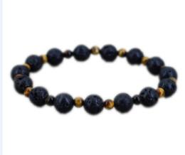 Accessoires cowboys en Ligne-12pcs / lot bracelet oeil de tigre Lava bracelet Viking bijoux accessoires de cow-boy urbain pour les hommes Casual cadeau outfitbracelet