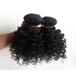 Canada 9A vison malaisien brésilien vierge humaine trame de cheveux 8-12inch Kinky bouclé supplier dye kinky human hair extensions Offre