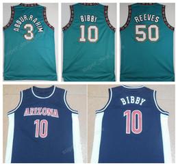 Wholesale Vintage Spun Cotton - Bibby Throwback Jerseys 10 Michael Mike Bibby 3 Shareef Abdur Rahim 50 Bryant Reeves Vintage Basketball Jerseys Arizona Wildcats College