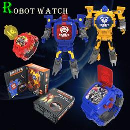 Canada 8 couleurs figurines jouets de transformation Robot regarder affichage électronique créatif déformation jouet pour enfants cadeau pour enfants Offre